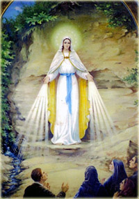 The first appearance of mother of God in Seredne